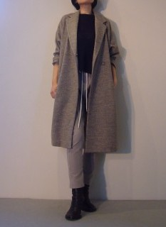 Coat【Olta design garments】Knit Tops【MHW】Pants【bassike】