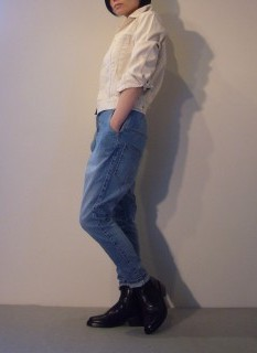 Denim Jacket, Jeans【bassike】Shoes【ANN DEMEULEMEESTER】