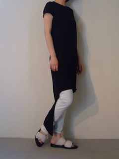 Knit dress【LIVIANA CINTI】Jeans【bassike】Shoes【ANN DEMEULEMEESTER】