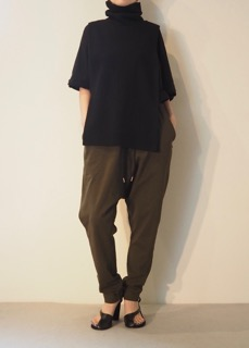 Knit vest【Y's】Top【bassike】Pants【bassike】