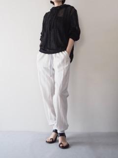 Hoodie【ANN DEMEULEMEESTER】Pants【Olta Designs】