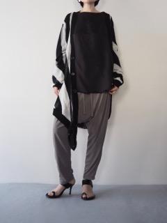 Knit cardigan【ANN DEMEULEMEESTER】Tops【provoke】Pants【tous les deux ensemble】Pierce【Présenté par Va-tout】