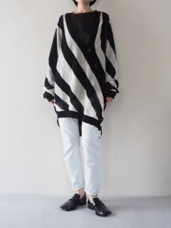 Knit cardigan【ANN DEMEULEMEESTER】Top【provoke】Jeans【bassike】