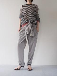 Knit top【ANN DEMEUKEMEESTER】Jumpsuit【HAIDER ACKERMANN】